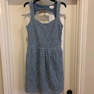 NWT Anthropologie Deletta Blue Dress size Medium